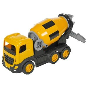 Kids 44cm Push Along Cement Mixer Construction Lorry Toy Car Indoor Outdoor