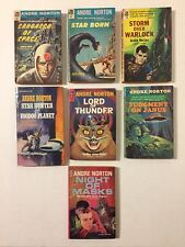 Lot 7 Vintage Andre Norton Sci-Fi Paperback Novels Ace All 1st Editions 50s 60s
