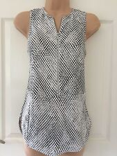Genuine Michael Kors NWT Summer Sleeveless Top With Zip Uk XS / 6 RRP £130