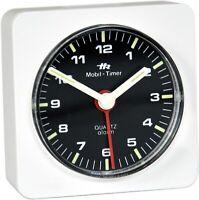 Mini Wecker original historisch 1980 analoger Reisewecker Uhr Herbert Richter