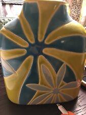 "Pier 1 imports Floral Blue Green Ceramic Decorative Vase 6"" x 3.5"""