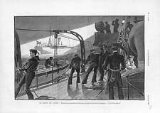 Maritime Admiralty law Ocean liner Germany Warship England ANTIQUE PRINT 1900