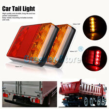 2x 8 LED Van Truck Lorry Trailer Rear Tail Stop Lights Reverse Indicator Lamp