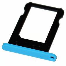 Apple iPhone 5c nano-SIM slot tray Halter Schacht card holder Schlitten blau