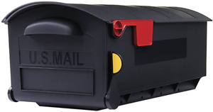Gibraltar Mailboxes Patriot Large Capacity Rust-Proof Plastic Black, Post-Mount