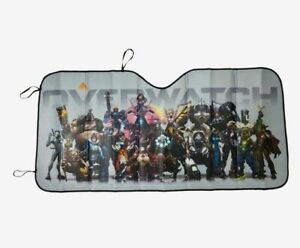 """Blizzard Entertainment Video Game Overwatch ACCORDION SUN SHADE 58"""" x 27.5"""" NEW"""