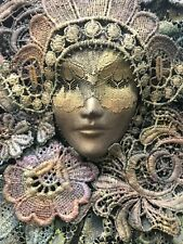Sensational Handmade Figural Lace Wall Art Sculpture