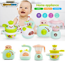4PCs Simulation Musical Kitchen Appliances Toys for Kid Cooking Set Pretend Play