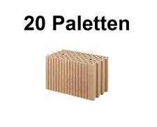 20 Pal. Planziegel POROTON-T (24 cm) 12/0,9 Ziegelstein Planstein Mauerwerk