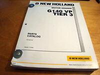 New Holland G140 VP Tier 3 Motor Grader Parts Catalog List Book Manual NH #1