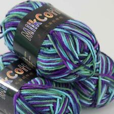 3 Balls x50g New Soft Colorful Children Cotton Hand dyed Wool Scarf Yarn Knit 22