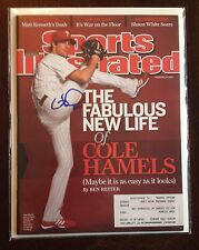 Cole Hamels Signed Sports Illustrated SI Magazine Phillies 2/23/09