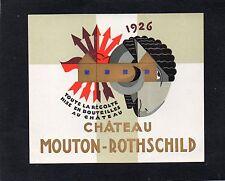 PAUILLAC 1EGCC ETIQUETTE CHATEAU MOUTON ROTHSCHILD 1926 CARLU §02/04/18§