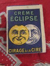 mini petit calendrier almanach porte monnaie publicitaire cirage eclipse 1920