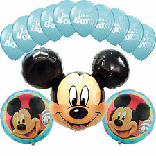 Baby Shower Mickey Mouse Blue Latex It's a Boy Foil balloons Party Decorations