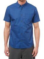 Jack O'Neill Mens Shirt Blue Size Small S Button Down Short Sleeve $59 #196