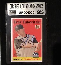 TROY TULOWITZKI 2007 TOPPS HERITAGE RC AUTOGRAPHED SIGNED AUTO CAS COA 263