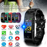 Smart Watch Blood Pressure HeartRate Monitor Bracelet Wristband for iOS  #! ❀