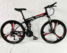 Deluxe Dual Full Suspension Mountain Bike 21 Speed Foldable Bicycle Bike AUS