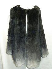 K-Yen Black & Grey Ombre Knitted Rabbit Fur Jacket Size M