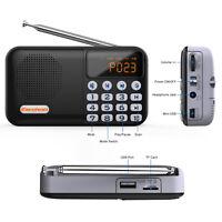 Portable Small Pocket DAB+ FM Radio Telescopic Antenna w/ Built IN Speaker BT4.0