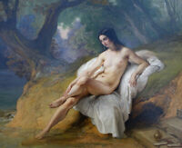 """high quality oil painting handpainted on canvas """"Bather"""""""