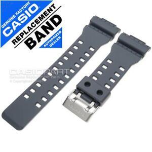 Genuine Casio Watch Band - G-Shock GA-110 GA-110TS-8A2 - Grey Resin Rubber Strap