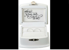 Lillian Rose White Wedding Ring Bearer Box Wedding Ring Box Wedding Ring Holder