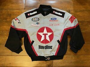 Ricky Rudd #28 Texaco Havoline Racing Race Jacket Mens Size Large NASCAR 2000 JH
