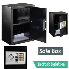 Black Digital Electronic Steel Safe Security Home Office Money Safety Box