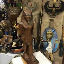 Amazing Vintage  Egyptian Kin Tut  Statue Hand Carved Wood Made in Egypt 1960