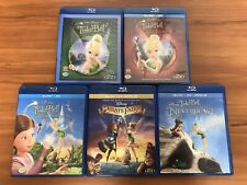 Tinker Bell 5-Movie Blu-ray Lot Disney Collection