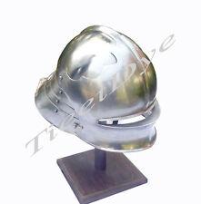 European Sallet Helmet, Seleta Helm with Liner & Chin Straps,+ FREE HELMET STAND
