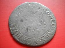 AMN. CHARLES IX DOUBLE SOL PARISIS 1569 TROYES
