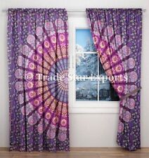 Ethnic Mandala Curtains Bohemian Sheer Curtains Hippie Window Wall Drapes Panel