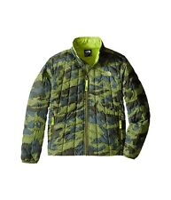 The North Face Thermoball Full Zip Kids Jacket Terrarium Green Mesh Camo  XL New