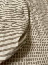 New listing Ely's & Co Waterproof Bassinet Sheet Set I Taupe and White Soft and Breathable