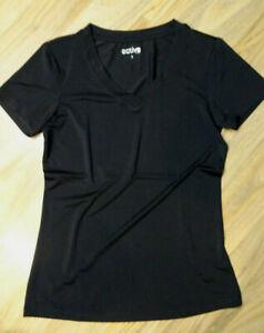 Shirt Sportshirt Fitness Yoga Gr.S 36/38 Active Tchibo Schwarz Kurzarm Damen