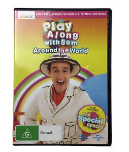 Play Along With Sam Around The World DVD Sam Moran Nick Jr Nickelodeon Kids Reg4