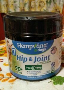 Hempvana For Dogs Hip And Joint Support Chews 8 oz  90+ Chews - NEW.