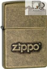 Zippo 28994 stamped logo antique Lighter with PIPE INSERT PL