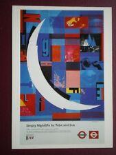 POSTCARD LTM 648 LONDON TRANSPORT 1998 POSTER SIMPLY NIGHTLIFE BY TUBE & BUS
