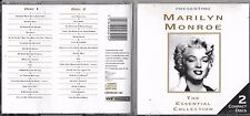 DOUBLE CD 32T MARILYN MONROE THE ESSENTIAL COLLECTION BEST OF 1995