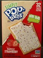 Kelloggs Simply Pop Tarts Frosted Harvest Strawberry Toaster Pastries 32 Count