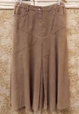 PHASE EIGHT Faded Beige Fine Corduroy Skirt - Size 12