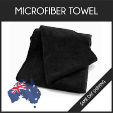 Microfiber Towel GYM SPORT FOOTY TRAVEL CAMPING SWIMMING DRYING MICROFIBRE BLACK