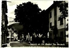 Cartolina Tresenda mt. 350 (Sondrio) Via Nazionale Viaggiata