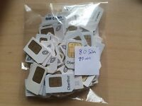 Lot of 80 Straight Talk Standard SIM Card