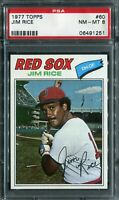 1977 Topps #60 Jim Rice PSA 8 NM-MT