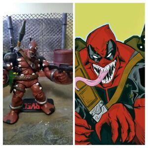 """3.75"""" custom figure Venompool Venom Deadpool Marvel comics"""